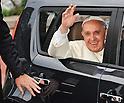 Pope Francis visiting South Korea