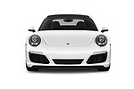 Car photography straight front view of a 2017 Porsche 911 Carrera-Coupe 2 Door Coupe Front View