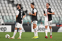 Miralem Pjanic, Cristiano Ronaldo and Adrien Rabiot of Juventus during the Serie A football match between Juventus FC and US Lecce at Juventus stadium in Turin  ( Italy ), June 26th, 2020. Play resumes behind closed doors following the outbreak of the coronavirus disease. Photo Andrea Staccioli / Insidefoto