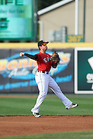 Erie SeaWolves second baseman Casey Frawley (17) during a game against the Richmond Flying Squirrels on May 27, 2016 at Jerry Uht Park in Erie, Pennsylvania.  Richmond defeated Erie 7-6.  (Mike Janes/Four Seam Images)