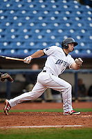 Lake County Captains outfielder Logan Vick (12) at bat during a game against the Dayton Dragons on June 8, 2014 at Classic Park in Eastlake, Ohio.  Lake County defeated Dayton 4-2.  (Mike Janes/Four Seam Images)