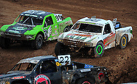 Mar. 20, 2011; Chandler, AZ, USA;  LOORRS pro two driver Jesse James (58) races in traffic during round two at Firebird International Raceway. Mandatory Credit: Mark J. Rebilas-