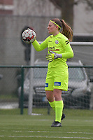 goalkeeper Ianthe Meerschaert (31) of Zulte-Waregem  pictured during a female soccer game between SV Zulte - Waregem and Club Brugge YLA on the 13 th matchday of the 2020 - 2021 season of Belgian Scooore Womens Super League , saturday 6 th of February 2021  in Zulte , Belgium . PHOTO SPORTPIX.BE   SPP   DIRK VUYLSTEKE