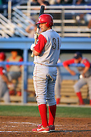 August 3rd 2008:  Third baseman Cody Overbeck of the Williamsport Crosscutters, Class-A affiliate of the Philadelphia Phillies, during a game at Dwyer Stadium in Batavia, NY.  Photo by:  Mike Janes/Four Seam Images