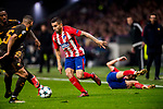 Angel Correa of Atletico de Madrid runs with the ball during the UEFA Champions League 2017-18 match between Atletico de Madrid and AS Roma at Wanda Metropolitano on 22 November 2017 in Madrid, Spain. Photo by Diego Gonzalez / Power Sport Images