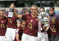 Arsenal vs Leeds United - Womens FA Cup Final at Millwall Football Club - 01/05/06 - Arsenal's Julie Fleeting with the Cup - (Gavin Ellis 2006)