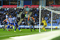 Mike van der Hoorn of Swansea City celebrates scoring his side's third goal during the Sky Bet Championship match between Reading and Swansea City at the Madejski Stadium in Reading, England, UK. Tuesday 01 January 2019