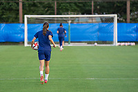 KASHIMA, JAPAN - AUGUST 1: Tobin Heath #7 of the USWNT walks to the other side of the field after a training session at the practice field on August 1, 2021 in Kashima, Japan.
