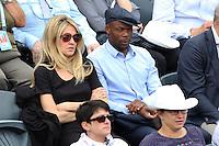 Sylvain Wiltord seen watching tennis during Roland Garros tennis open 2016 on may 26 2016.