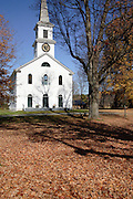First Baptist Church during the autumn months. Located in Cornish, New Hampshire  USA  which is part of scenic New England.
