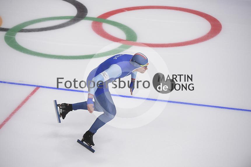 OLYMPIC GAMES: PYEONGCHANG: 19-02-2018, Gangneung Oval, Long Track, 500m Men, Henrik Fagerli Rukke (NOR), ©photo Martin de Jong