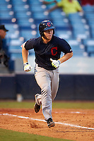 Brad Debo (13) of Orange High School in Durham, North Carolina playing for the Cleveland Indians scout team during the East Coast Pro Showcase on July 29, 2015 at George M. Steinbrenner Field in Tampa, Florida.  (Mike Janes/Four Seam Images)