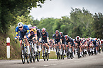 Tim Declercq (BEL) Deceuninck-Quick-Step leads the peloton during Stage 1 of the 2021 Tour de France, running 197.8km from Brest to Landerneau, France. 26th June 2021.  <br /> Picture: A.S.O./Charly Lopez | Cyclefile<br /> <br /> All photos usage must carry mandatory copyright credit (© Cyclefile | A.S.O./Charly Lopez)