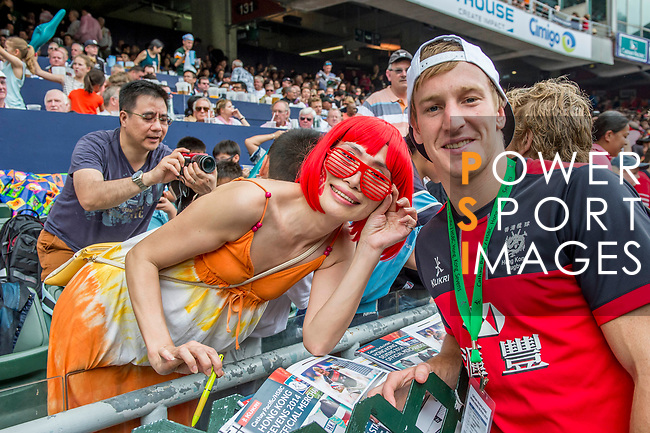 United States vs South Africa on Plate Semi Final during the Cathay Pacific / HSBC Hong Kong Sevens at the Hong Kong Stadium on 30 March 2014 in Hong Kong, China. Photo by Juan Flor / Power Sport Images