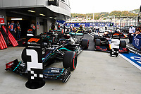 26th September 2020, Sochi, Russia; FIA Formula One Grand Prix of Russia, qualification;  44 Lewis Hamilton GBR, Mercedes-AMG Petronas Formula One Team takes pole