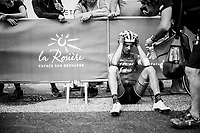 Kiel Reijnen (USA/Trek-Segafredo) needed to dig extremely dee to finish the stage and had to ride the last 40km alone to the finish (to finish last)<br /> <br /> Stage 6: Frontenex > La Rosière Espace San Bernardo (110km)<br /> 70th Critérium du Dauphiné 2018 (2.UWT)
