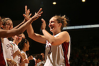 25 February 2006: Krista Rappahahn comes out in the final minute during Stanford's 78-47 win over the Washington State Cougars at Maples Pavilion in Stanford, CA.