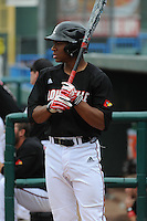 University of Louisville Cardinals outfielder Corey Ray (2) during a game against the Temple University Owls at Campbell's Field on May 10, 2014 in Camden, New Jersey. Temple defeated Louisville 4-2.  (Tomasso DeRosa/ Four Seam Images)