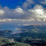Mill Valley, Sausalito, San Francisco, from Mount Tamalpais, Marin County, California