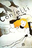 Confetti by Henri de Toulouse-Lautrec, lithograph, 1894