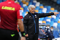 Gian Piero Gasperini coach of Atalanta BC gestures<br /> during the Serie A football match between SSC Napoli and Atalanta BC at stadio San Paolo in Napoli (Italy), October 17th, 2020. <br /> Photo Cesare Purini / Insidefoto