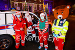The Tralee branch of the Red Cross launch their Red Fred Christmas Drive on Saturday and it will be held on Saturday December the 19th. L to r:  Steve O'Connor, Santa Claus, Jelly the Elf and Red Fred.