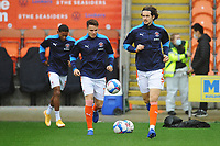 Blackpool's Jordan Williams during the pre-match warm-up <br /> <br /> Photographer Kevin Barnes/CameraSport<br /> <br /> The EFL Sky Bet League One - Blackpool v Milton Keynes Dons - Saturday 24 October 2020 - Bloomfield Road - Blackpool<br /> <br /> World Copyright © 2020 CameraSport. All rights reserved. 43 Linden Ave. Countesthorpe. Leicester. England. LE8 5PG - Tel: +44 (0) 116 277 4147 - admin@camerasport.com - www.camerasport.com