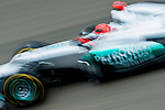 Mercedes AMG Petronas F1 Team driver Michael Shumacher of Germany speeds his W03 car during the UBS Chinese F1 Grand Prix at Shanghai International circuit April 13, 2012. Photo by Victor Fraile