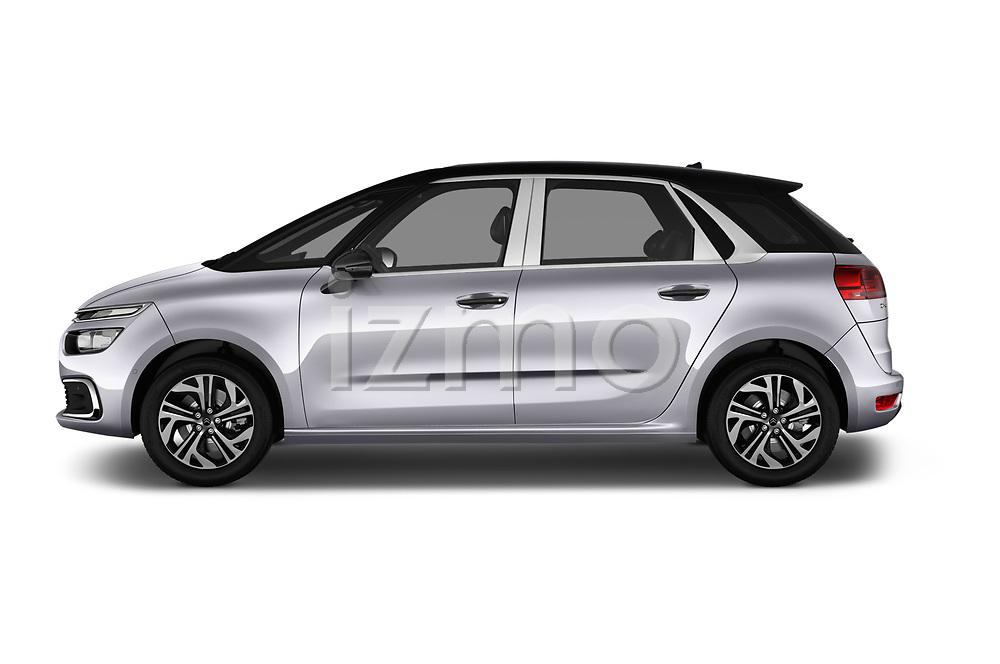 Car Driver side profile view of a 2017 Citroen C4-Picasso Shine 5 Door Mini Mpv Side View