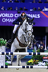 OMAHA, NEBRASKA - APR 2: Martin Fuchs rides Clooney during the Longines FEI World Cup Jumping Final at the CenturyLink Center on April 2, 2017 in Omaha, Nebraska. (Photo by Taylor Pence/Eclipse Sportswire/Getty Images)