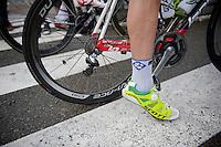 Matthieu Ladagnous' (FRA) special Scott shoes<br /> <br /> Halle - Ingooigem 2013<br /> 197km