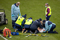13th February 2021; Twickenham, London, England; International Rugby, Six Nations, England versus Italy; Jack Willis of England receives treatment on the pitch