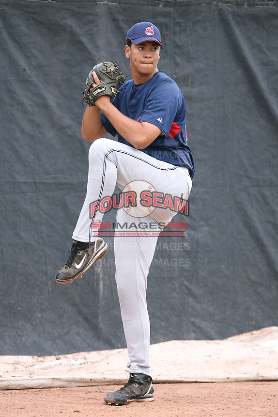 March 20th 2008:  Joanniel Montero of the Cleveland Indians minor league system during Spring Training at Chain of Lakes Training Complex in Winter Haven, FL.  Photo by:  Mike Janes/Four Seam Images
