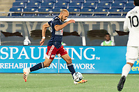 FOXBOROUGH, MA - OCTOBER 09: Tiago Mendonca #33 of New England Revolution II during a game between Fort Lauderdale CF and New England Revolution II at Gillette Stadium on October 09, 2020 in Foxborough, Massachusetts.