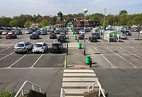 High Wycombe, UK. 16th April, 2020.<br /> Asda superstore , High Wycombe during the Covid-19 Pandemic as the UK Government advice to maintain social distancing and minimise time outside in High Wycombe on 16 April 2020. Photo by PRiME Media Images