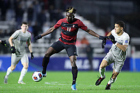 CARY, NC - DECEMBER 13: Ousseni Bouda #11 of Stanford University plays the ball during a game between Stanford and Georgetown at Sahlen's Stadium at WakeMed Soccer Park on December 13, 2019 in Cary, North Carolina.