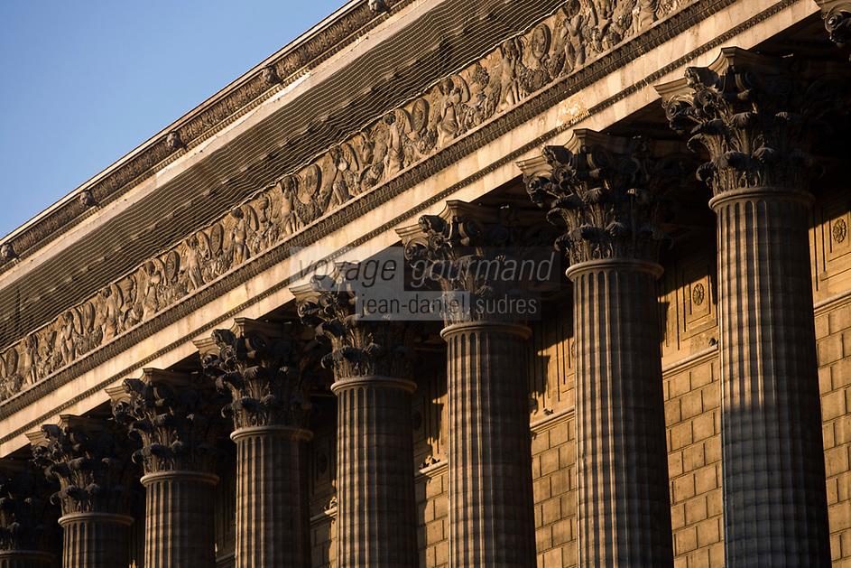 Europe/France/Ile-de-France/75008 /Paris: La Madeleine - Eglise Sainte-Marie-Madeleine -Colonnes corinthiennes