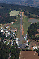 aerial photograph of Angwin-Parrett Field (2O3), Angwin, Napa County, California