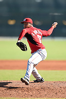 Cincinnati Reds pitcher Adrian Rodriguez (76) during an Instructional League game against the Los Angeles Dodgers on October 11, 2014 at Goodyear Training Complex in Goodyear, Arizona.  (Mike Janes/Four Seam Images)