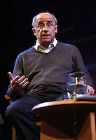 Sunday 25 May 2014, Hay on Wye, UK<br /> Pictured: Judge Brian Leveson. <br /> Re: The Hay Festival, Hay on Wye, Powys, Wales UK.