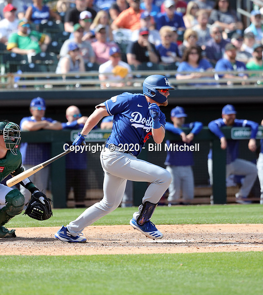 Luke Raley - Los Angeles Dodgers 2020 spring training (Bill Mitchell)