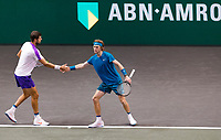 Rotterdam, The Netherlands, 4 march  2021, ABNAMRO World Tennis Tournament, Ahoy, Second round doubbles: Karen Khachanov (RUS) / Andrey Rubelv (RUS). <br /> Photo: www.tennisimages.com/