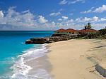 BRB, Barbados, Sam Lord's Castle: leerer Strand | BRB, Barbados, Sam Lord's Castle: deserted beach