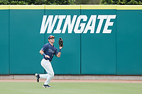 Wingate Bulldogs right fielder Andrew Motsinger (7) catches a fly ball for the final out against the Central Missouri Mules during the 2021 DII Baseball National Championship at Coleman Field at the USA Baseball National Training Complex on June 12, 2021 in Cary, North Carolina. The Bulldogs defeated the Mules 5-3. (Brian Westerholt/Four Seam Images)