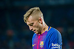 Lucas Digne of FC Barcelona reacts during the La Liga 2017-18 match between FC Barcelona and SD Eibar at Camp Nou on 19 September 2017 in Barcelona, Spain. Photo by Vicens Gimenez / Power Sport Images