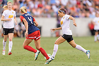 Houston, TX - Sunday Oct. 09, 2016: Megan Oyster, Jaelene Hinkle during the National Women's Soccer League (NWSL) Championship match between the Washington Spirit and the Western New York Flash at BBVA Compass Stadium. The Western New York Flash win 3-2 on penalty kicks after playing to a 2-2 tie.
