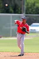 Boston Red Sox shortstop Mookie Betts #11 during an Instructional League game against the Minnesota Twins at Red Sox Minor League Training Complex in Fort Myers, Florida;  October 3, 2011.  (Mike Janes/Four Seam Images)