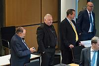 """Plenarsitzung des Berliner Abgeordnetenhaus am Donnerstag den 30. April 2020.<br /> Im Bild: Dieter Neuendorf, Mitglied der """"Alternative fuer Deutschland""""; Kay Nerstheimer und Andreas Wild, beide fraktionslose Abgeordnete, ehm. Mitglieder der """"Alternative fuer Deutschland""""; Frank Scheermesser, Mitglied der """"Alternative fuer Deutschland"""".<br /> 30.4.2020, Berlin<br /> Copyright: Christian-Ditsch.de<br /> [NUR FUER REDAKTIONELLE ZWECKE! Werbung nur auf Anfrage beim Fotografen. Inhaltsveraendernde Manipulation des Fotos nur nach ausdruecklicher Genehmigung des Fotografen. Vereinbarungen ueber Abtretung von Persoenlichkeitsrechten/Model Release der abgebildeten Person/Personen liegen nicht vor. NO MODEL RELEASE! Don't publish without copyright Christian-Ditsch.de, Veroeffentlichung nur mit Fotografennennung, sowie gegen Honorar, MwSt. und Beleg. Konto: I N G - D i B a, IBAN DE58500105175400192269, BIC INGDDEFFXXX, Kontakt: post@christian-ditsch.de<br /> Bei der Bearbeitung der Dateiinformationen darf die Urheberkennzeichnung in den EXIF- und  IPTC-Daten nicht entfernt werden, diese sind in digitalen Medien nach §95c UrhG rechtlich geschuetzt. Der Urhebervermerk wird gemaess §13 UrhG verlangt.]"""