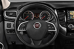 Car pictures of steering wheel view of a 2017 Fiat Fullback Pack-Lusso 4 Door Pickup Steering Wheel