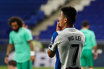 28th June 2020; RCDE Stadium, Barcelona, Catalonia, Spain; La Liga Football, Real Club Deportiu Espanyol de Barcelona versus Real Madrid; Picture show Wu Lei